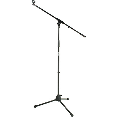 Tiger Black Boom Microphone Stand with Mic Clip
