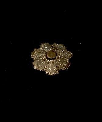 "Ancient Viking Ornate Disc Brooch ""Flower"""