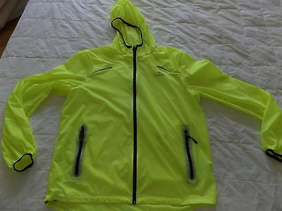 "Ll Bean Men's Medium Or Women""s Large Yellow Hooded Wind Jacket"