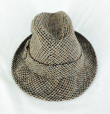 Dobbs Fifth Avenue New York Vintage Tweed Classic Fedora Hat Hipster Mens 6 3/4