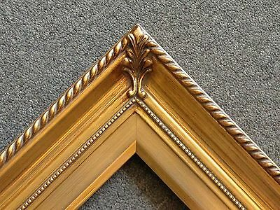 "3.75"" Gold Wood Antique Art Photo Picture Frame 24""x36"" 296G (Lot of 3)"