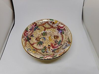 SMALL MALING CHINTZ CHESTNUT BROWN BOWL(10.5cms diameter)
