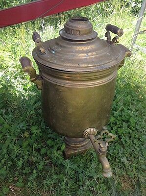 Vintage Russian Samovar ~ Coffee Tea Brass Copper 19th Century Antique