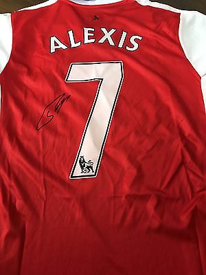 Alexis Sanchez Signed Arsenal 2016-17 home shirt Medium mens NEW