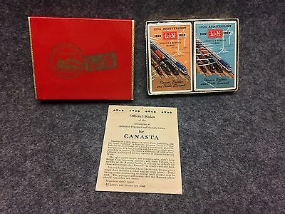 L & N Railroad Louisville Nashville Canasta Playing Cards 1950 100th Anniversary
