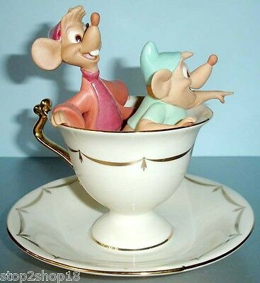 Lenox Disney Cinderella's Tea Party Pals Gus and Jaq Figurine New In Box