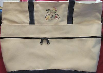 Ready For Disney! Large Tote Bag With Orlando Embroidery