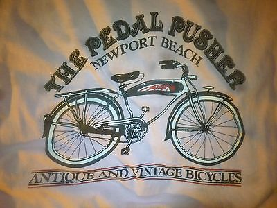 Antique Vintage Prewar Postwar Complete Bicycle Rare T-Shirt Schwinn Accessory