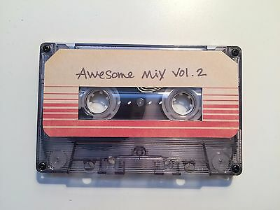 Guardians Of The Galaxy Awesome Mix vol 2  BLANK Cassette Movie Prop Replica