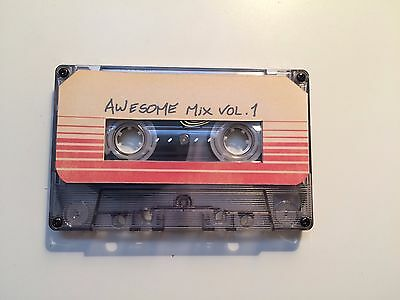 Guardians Of The Galaxy Awesome Mix vol.1 BLANK Cassette Movie Prop Replica