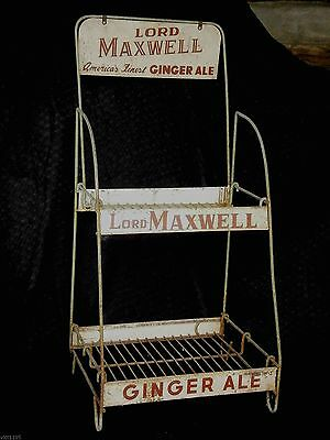 Rare General Store Metal Display Rack Lord Maxwell America's Ginger Ale