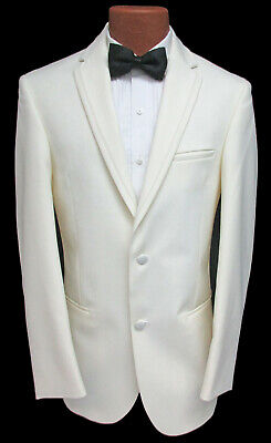 New with Tags Ivory Off-White Tuxedo Dinner Jacket Formal Wedding Cruise Mason
