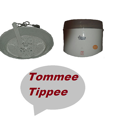 Tommee Tippee white Electric Steriliser closer To Nature Storage Baby Feeding