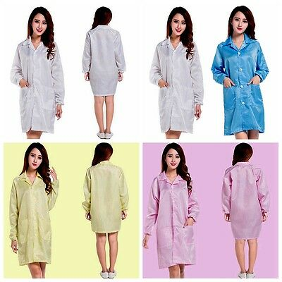 Unisex Medical ESD-Safe Shield Anti-Static Dustproof LAB Smock Coats Clothes