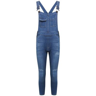 New Girls Denim Skinny jeans Dungaree Pocket Front Stretch Stylish 7 to 13 years