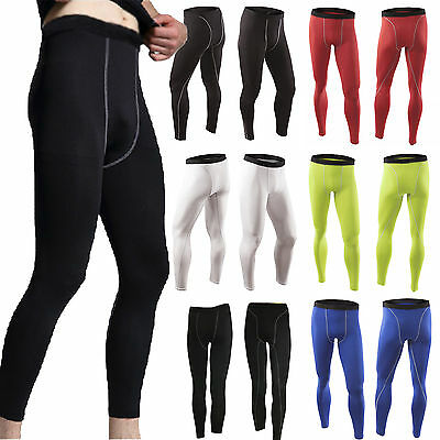 Mens Compression Baselayer Long Pants Sportswear Running Leggings Tight Trousers