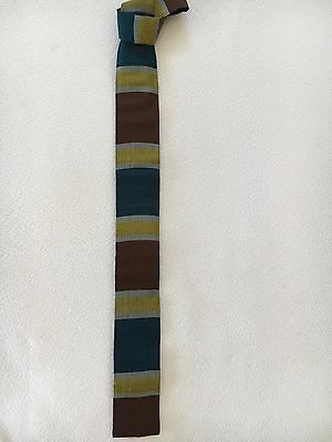 Vintage 1960s Rooster Silk Skinny Tie with Square Bottom