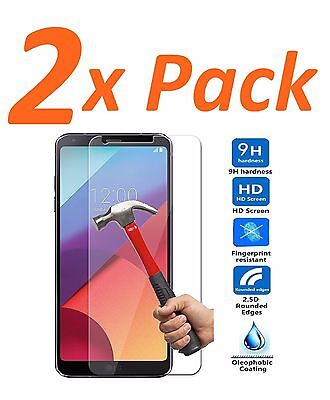 2x FOR LG G6 BALLISTIC TEMPERED GLASS SCREEN PROTECTOR GUARD SHIELD 9H HARD