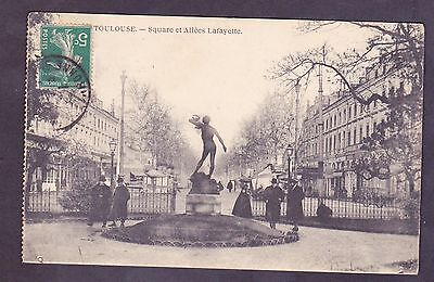 Cpa - 31 - Toulouse - Square Et Allees Lafayette - Animee - Personnages