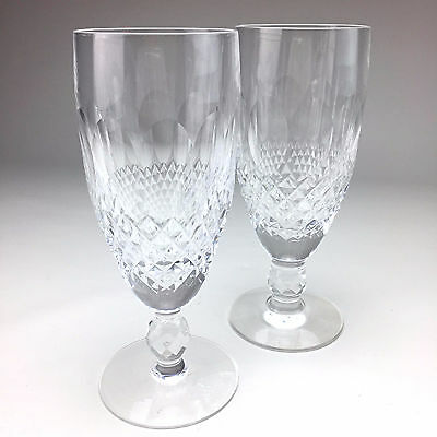 Waterford Crystal Lismore Cut Champagne Flute Glasses Set Of 6 Picclick Uk