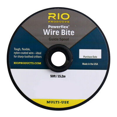 NEW RIO POWERFLEX WIRE TIPPET SPOOL 5YDS 40LB//BRONZE fly fishing pike saltwater