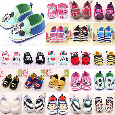 Toddler Infant Boys Girls Slip On Loafers Baby Prewalkers Soft Sole Crib Shoes