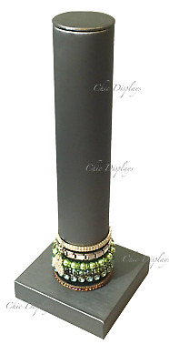 "STEEL GREY BANGLE BRACELET DISPLAY T BAR DISPLAY WATCH DISPLAY STAND 13"" Tall"