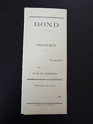 Independent Order of Odd Fellows Unissued Bond 1900s