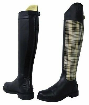Baker Ladies Schooling Plaid Tall Boots