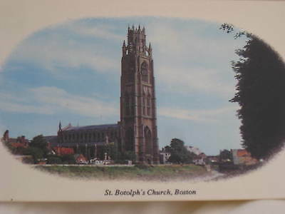 Lovely scenic card St Botolph's church, Boston Stump, colour postcard Lincoln