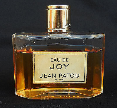 Vintage EAU DE JOY Jean Patou Perfume 1-1/2 oz. Bottle, Made in France