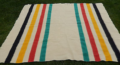 """Antique Hudson Bay Four Point Blanket * Measures approx. 69"""" x 85"""""""