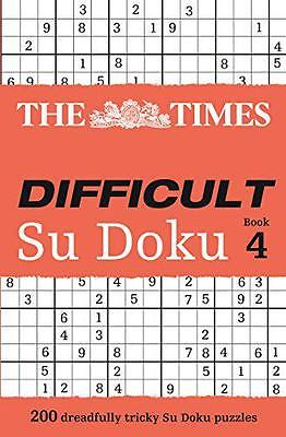 The Times Difficult Su Doku Book 4, Puzzler Media | Paperback Book | 97800073645