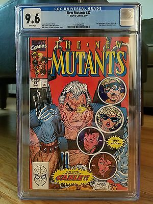 New Mutants #87 [1st app Cable] (Marvel) CGC 9.6 NM+ White Pages!