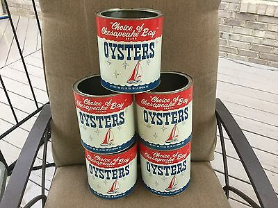 Choice Of The Chesapeake Gallon Oyster Tin Ferguson Seafood Remlick Va Can