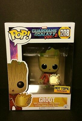 Funko Pop! Guardians of the Galaxy Vol. 2:  GROOT #208 Hot Topic Exclusive