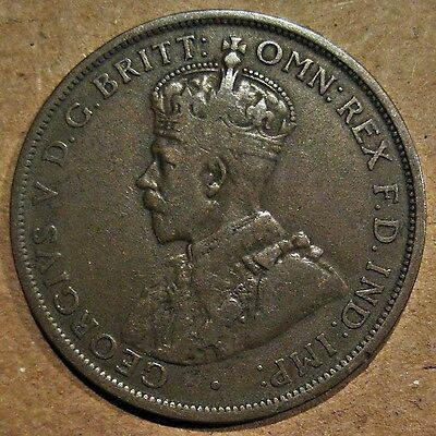 Jersey 1913 King George V Bronze 1/12Th Shilling Coin (Km#12)