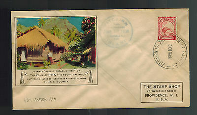 1938 Pitcairn Islands Cover to USA Signed E Christian Voice of PITC Radio Cachet