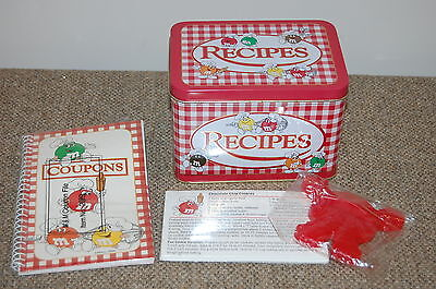 Vintage M&M'S RECIPE TIN, CARDS & COOKIE CUTTER, COUPON HOLDER~NIP M&MS Candy