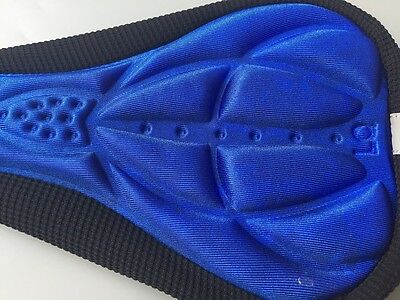 3D Sponge Pad Seat Saddle Cover Cycling Bicycle Bike  Soft Cushion Air Blue