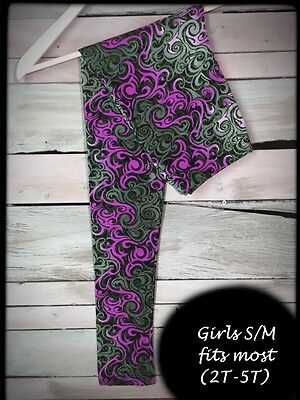 Purple Serenity Toddlers Girl (2T-5T) Amazing Buttery Soft Leggings