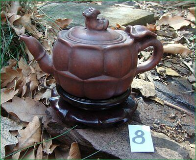 Antique Vintage Yixing Zisha Teapot Pumpkin Decoration Figural Ducks Knop #8