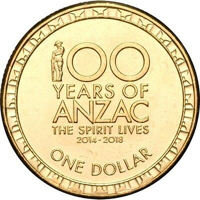 Australia 2017 $1 100 Years of ANZAC The Spirit Lives Dollar Coin UNC
