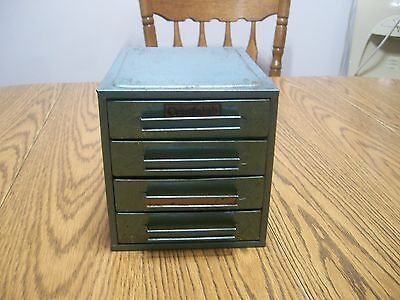 Vintage Centralab Cabinet small parts storage container all metal 4 drawer