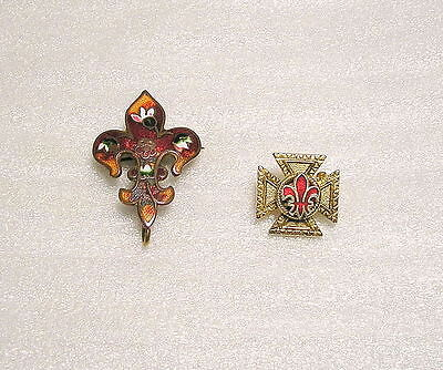 Vintage RARE Collector Trading Pins, Boy Scouts Enamel & Gold Tone Parents Pins