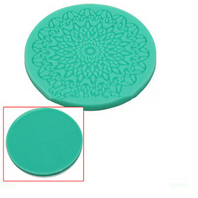 Hot 3D Lace Mold Mat Flower Fondant Cupcake Topper Decorating Cake Icing Tool