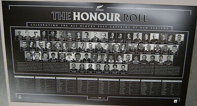 NEW ZEALAND ALL BLACKS LIMITED CAPTAINS HONOUR ROLL PRINT CARTER McCAW WORLD CUP