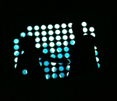 """Sound Activated """"Flashing"""" Light up Tee's (LED T-shirt) - Blue Dance Floor"""