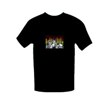 """Sound Activated """"Flashing"""" Light up Tee's (LED T-shirt) - Astroboy"""