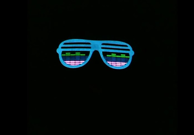 """Sound Activated """"Flashing"""" Light up Tee's (LED T-shirt) - Sunglasses"""
